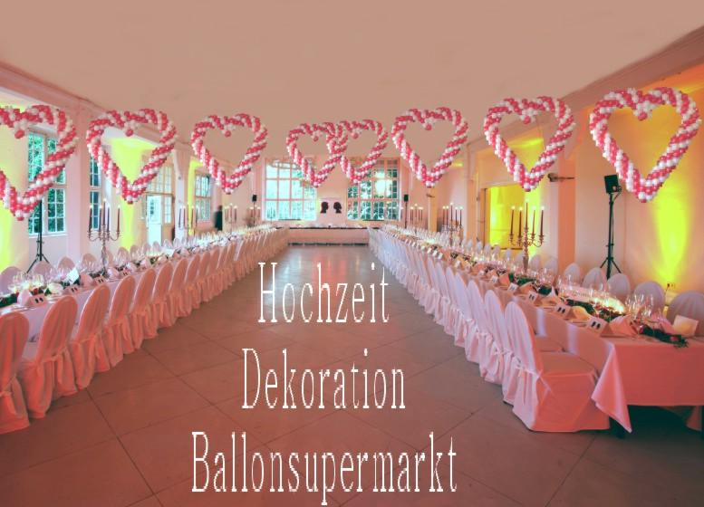 herzliche ballondekoration zur hochzeit. Black Bedroom Furniture Sets. Home Design Ideas