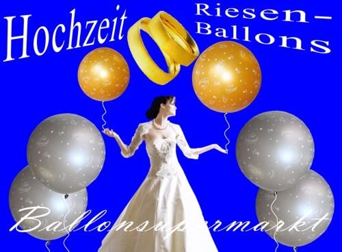 Riesige Luftballons zur Hochzeit