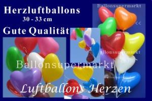 Luftballons Herzen Herzluftballons