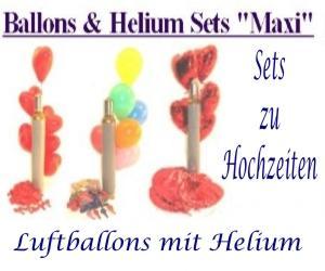 Luftballons und Helium zur Hochzeit in Sets