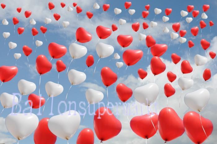 Luftballons Hochzeit: Himmel voller Luftballons