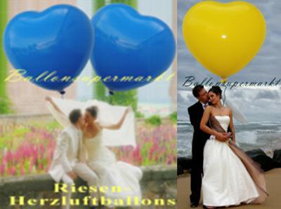 Herzluftballons in bunten Farben
