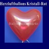 Herzluftballons Kristallrot