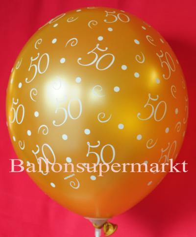 Luftballon in Gold zur goldenen Hochzeit, 50